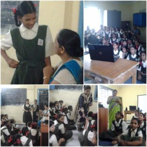 CAPGEMINI/SSRVM School Adoption Project Activity: Menstrual Health & Hygiene for Adolescent Girls Students Kharegaon -14