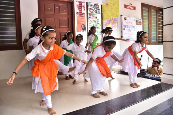 Performing Dance by Girl Kids
